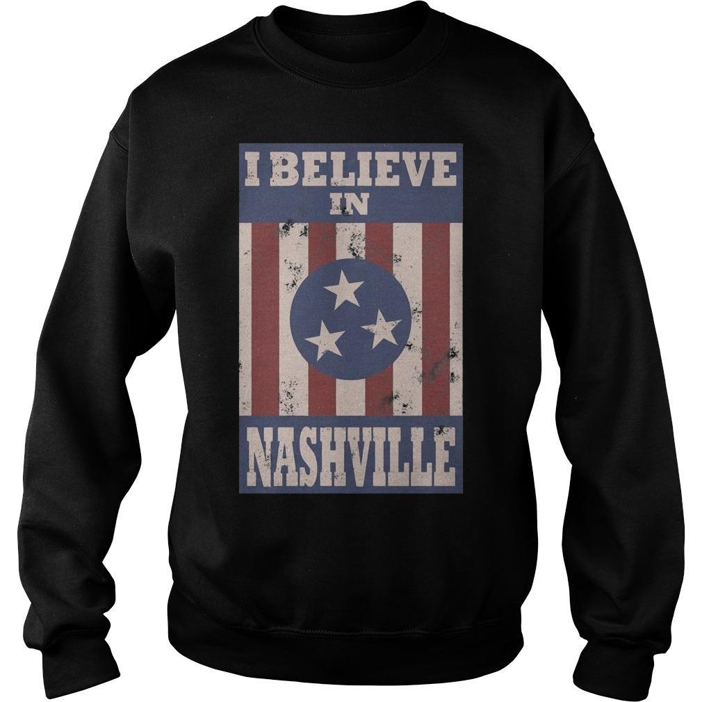 I Believe In Nashville Tornado Sweater