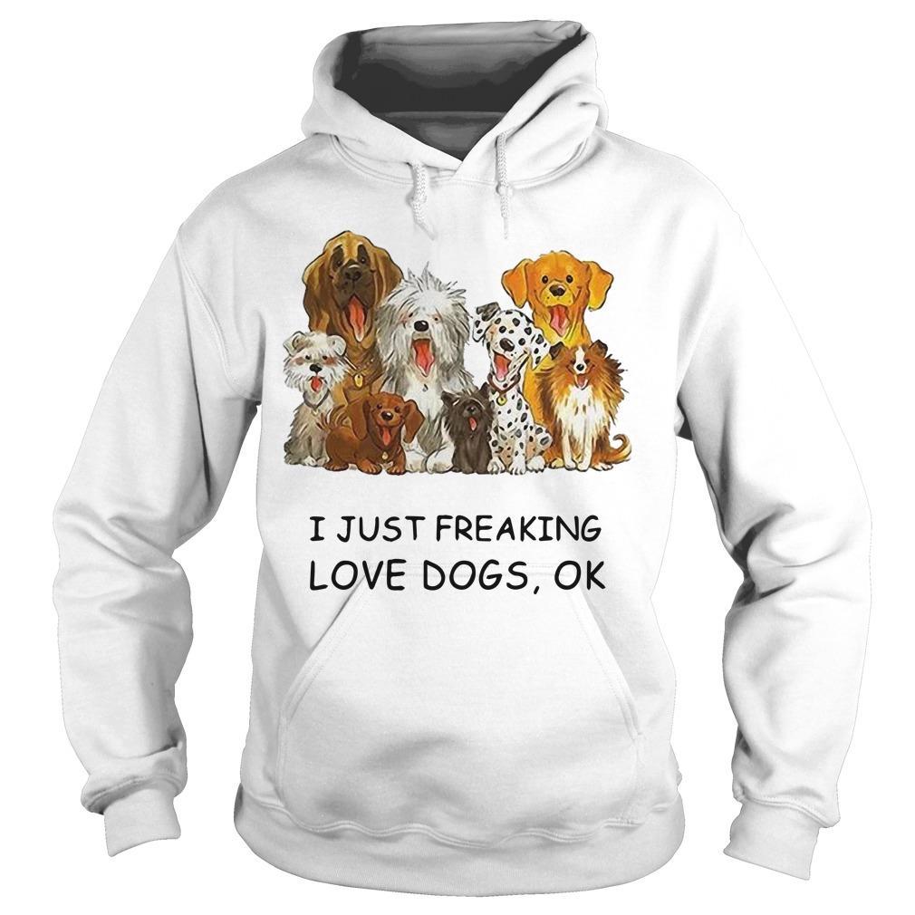 I Just Freaking Love Dogs Ok Hoodie