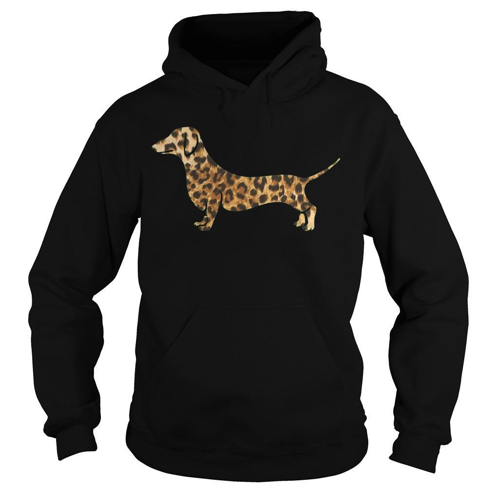 Leopard Print Dachshund Hoodie