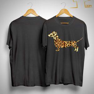 Leopard Print Dachshund Shirt