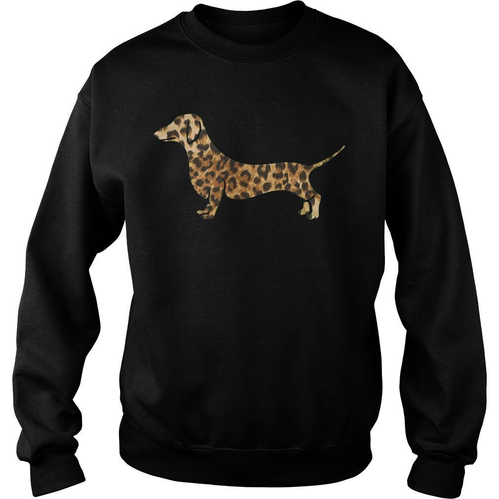 Leopard Print Dachshund Sweater