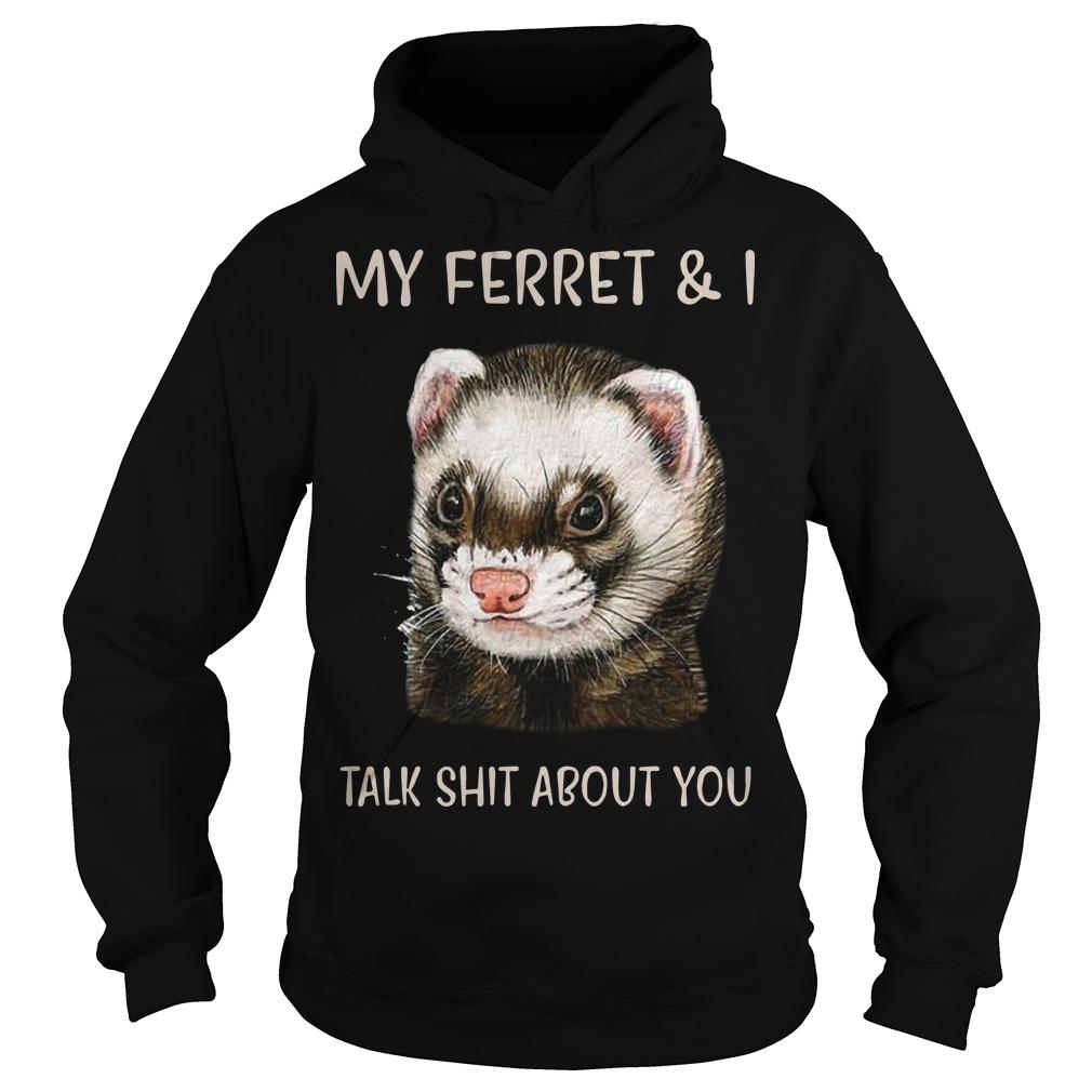 My Ferret And I Talk Shit About You Hoodie