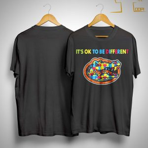 Autism Florida Gator It's Ok To Be Different Shirt