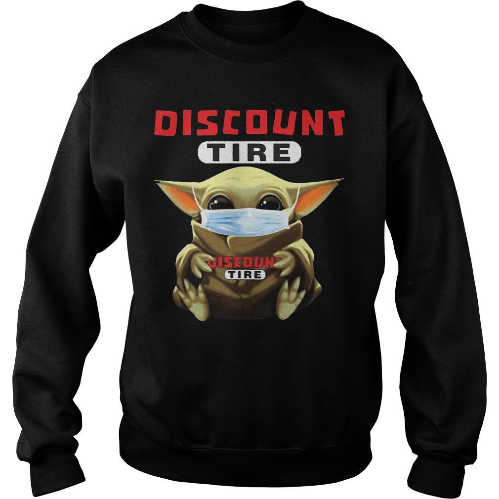 Baby Yoda Mask Hugging Discount Tire Sweater