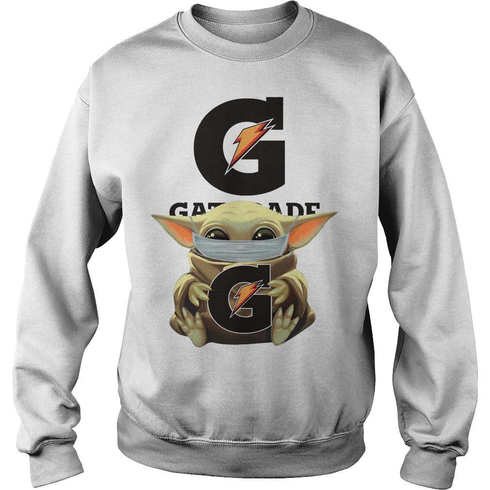 Baby Yoda Mask Hugging Gatorade Retail Sweater