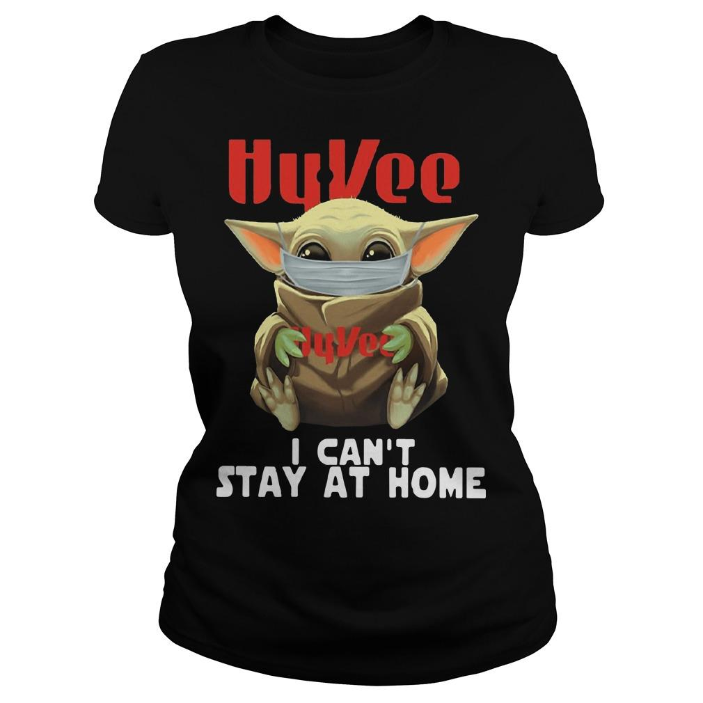 Baby Yoda Mask Hugging Hy Vee I Can't Stay At Home Longsleeve