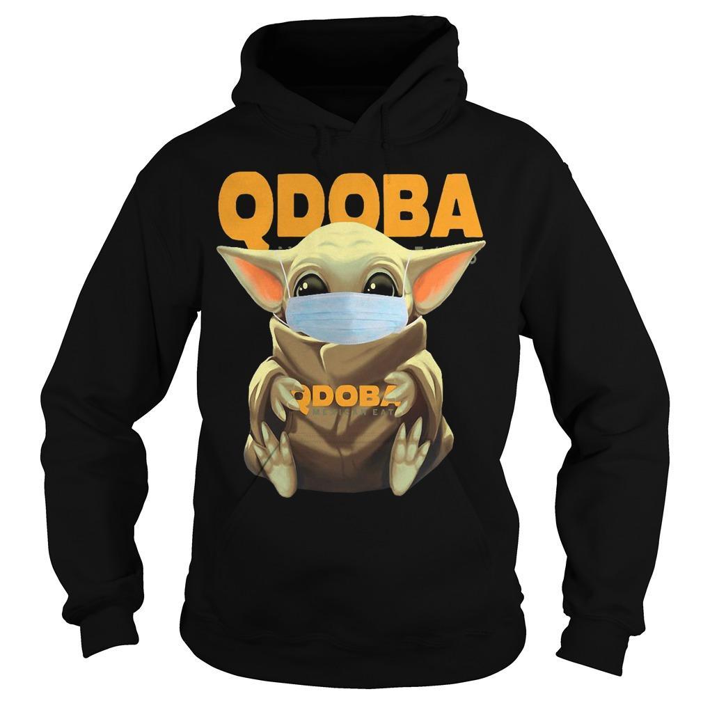 Baby Yoda Mask Hugging Qdoba Hoodie