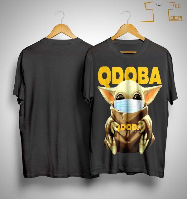 Baby Yoda Mask Hugging Qdoba Shirt