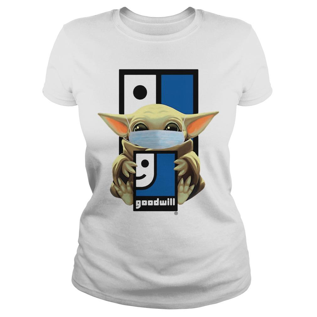 Baby Yoda Wearing Mask Goodwill Longsleeve