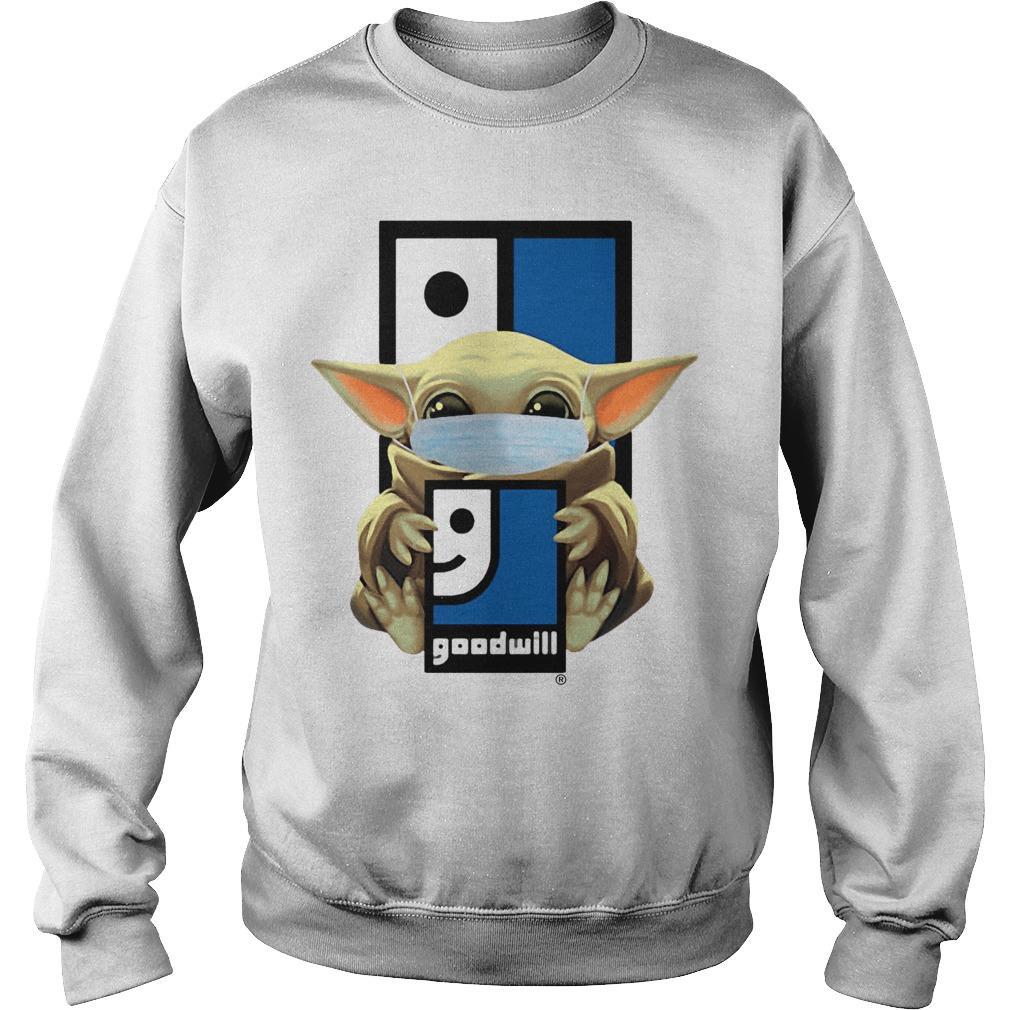 Baby Yoda Wearing Mask Goodwill Sweater