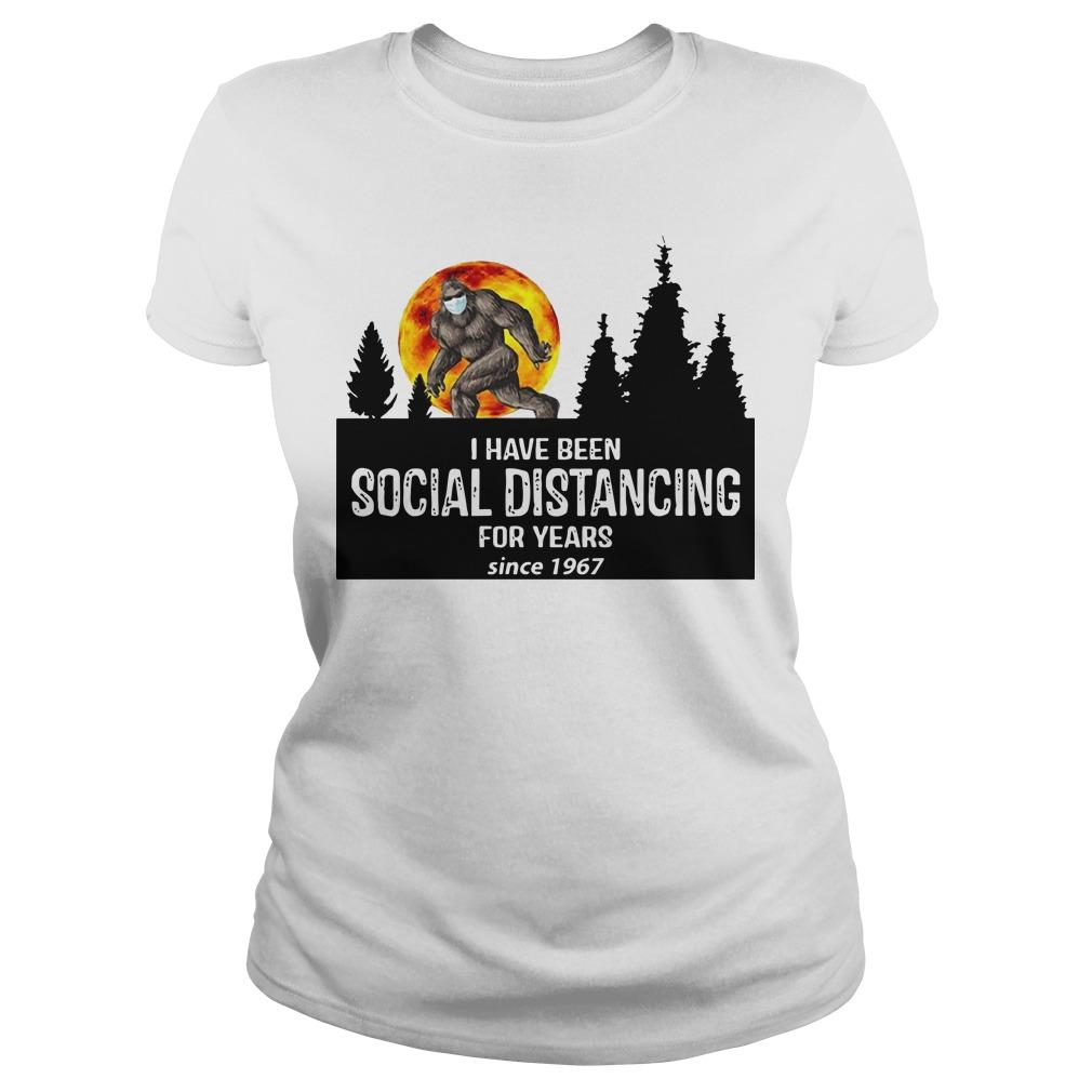 Bigfoot I Have Been Social Distancing For Years Since 1967 Longsleeve