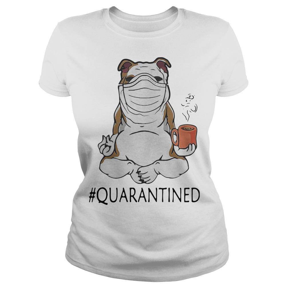Bulldog Mask Yoga And Drinking Coffee Quarantined Longsleeve