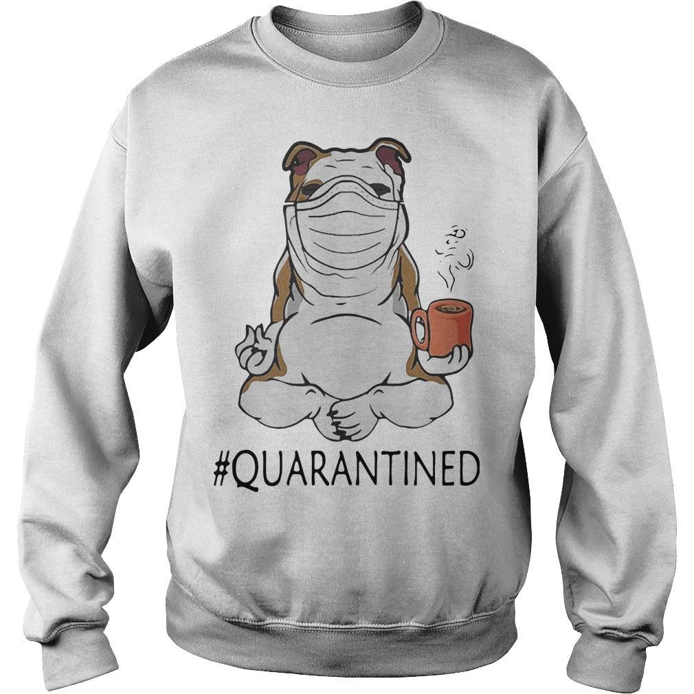 Bulldog Mask Yoga And Drinking Coffee Quarantined Sweater