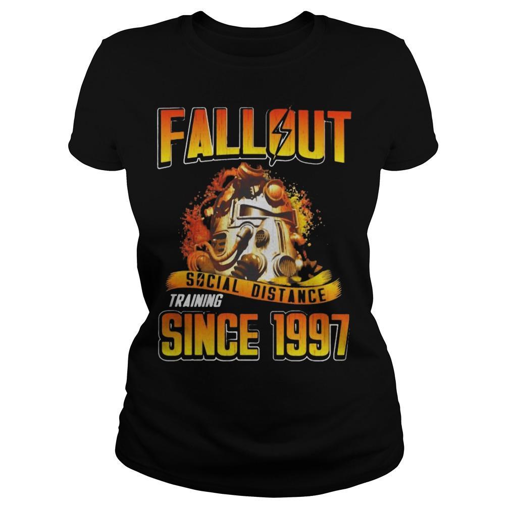 Fallout Social Distance Training Since 1997 Longsleeve
