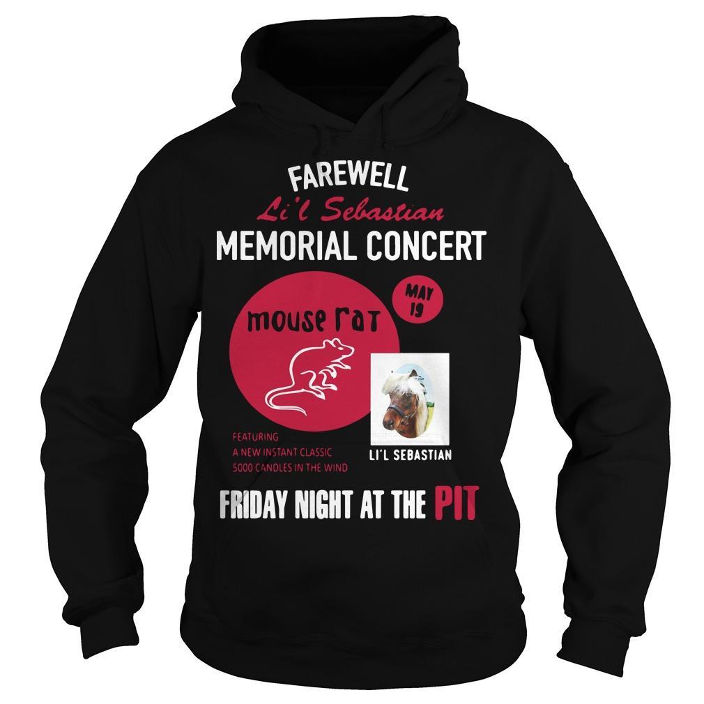 Farewell Li'l Sebastian Memorial Concert Mouse Fat Hoodie