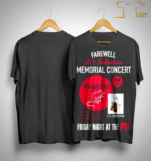 Farewell Li'l Sebastian Memorial Concert Mouse Fat Shirt