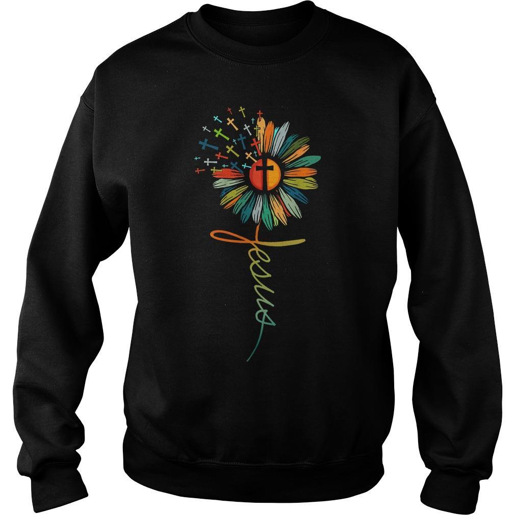 Flower Jesus Sweater