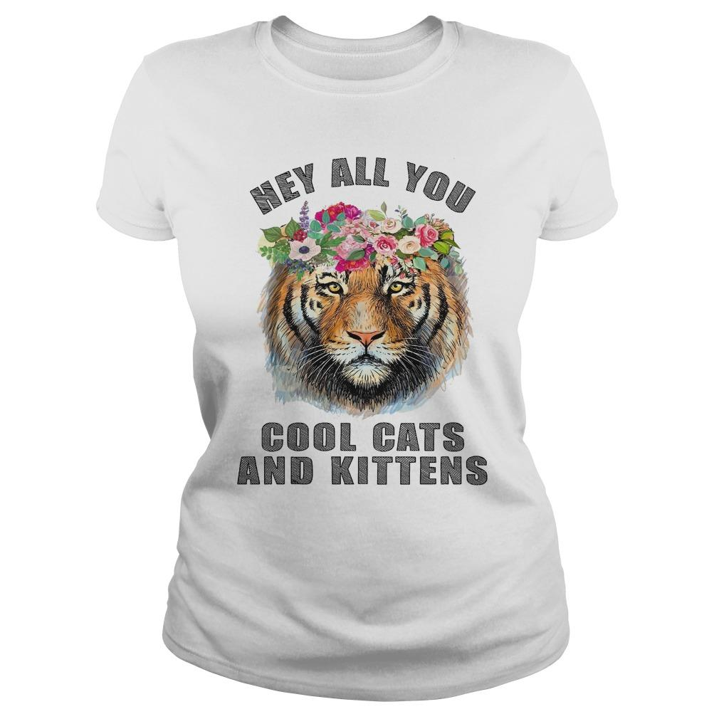 Flower Tiger Hey All You Cool Cats And Kittens Longsleeve
