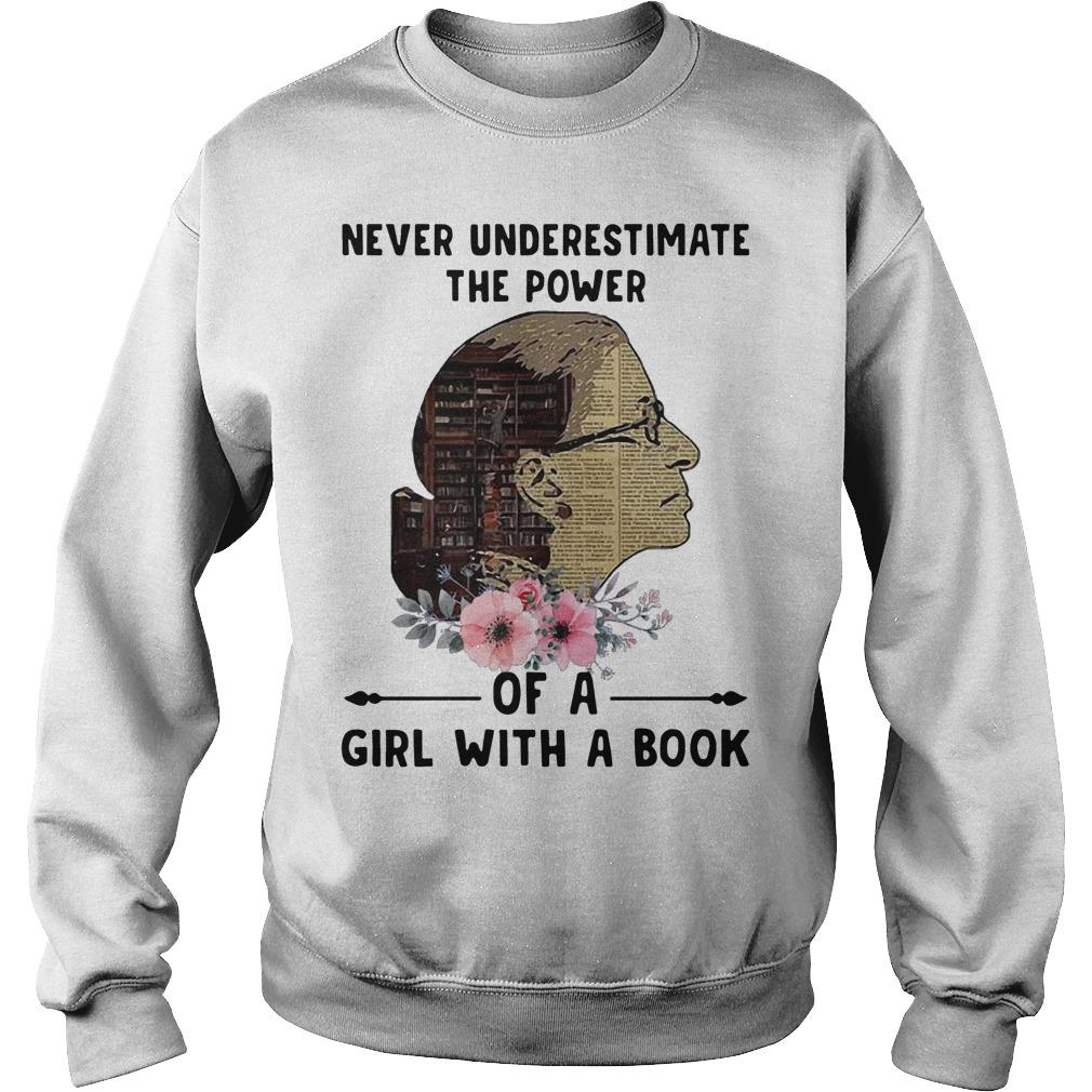 Liberty Girl Never Underestimate The Power Of A Girl With A Book Sweater