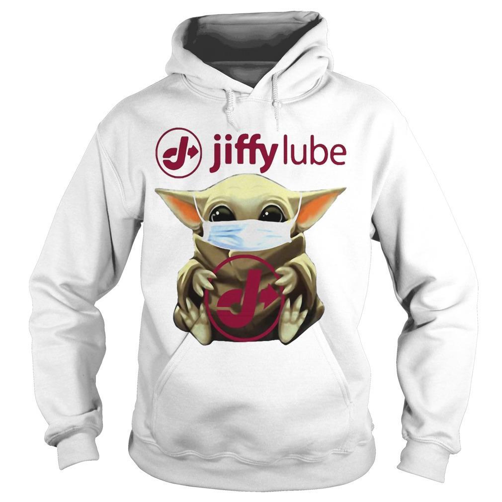Mask Baby Yoda Hugging Jiffy Lube Hoodie