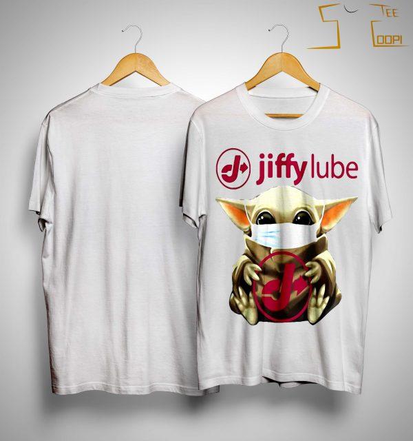 Mask Baby Yoda Hugging Jiffy Lube Shirt