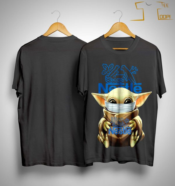 Mask Baby Yoda Hugging Nestlé Shirt