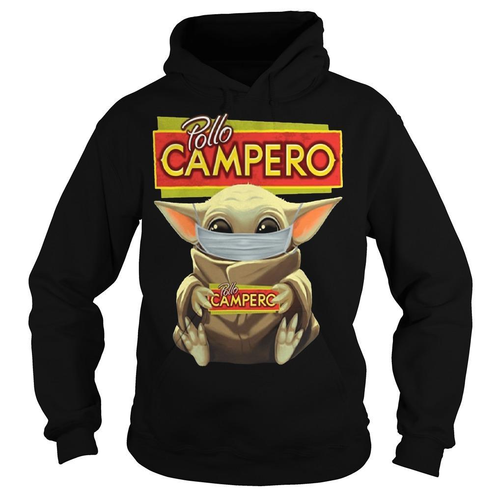 Mask Baby Yoda Hugging Pollo Campero Hoodie