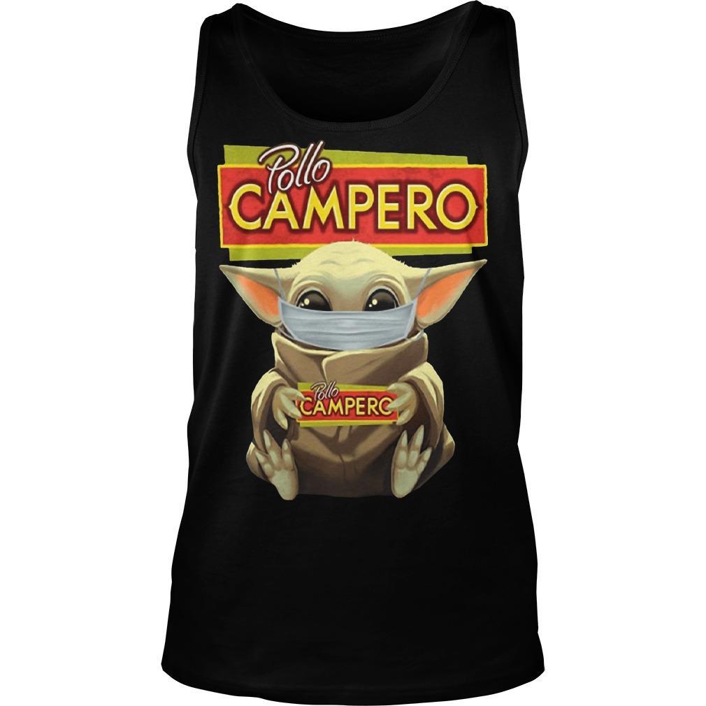 Mask Baby Yoda Hugging Pollo Campero Tank Top