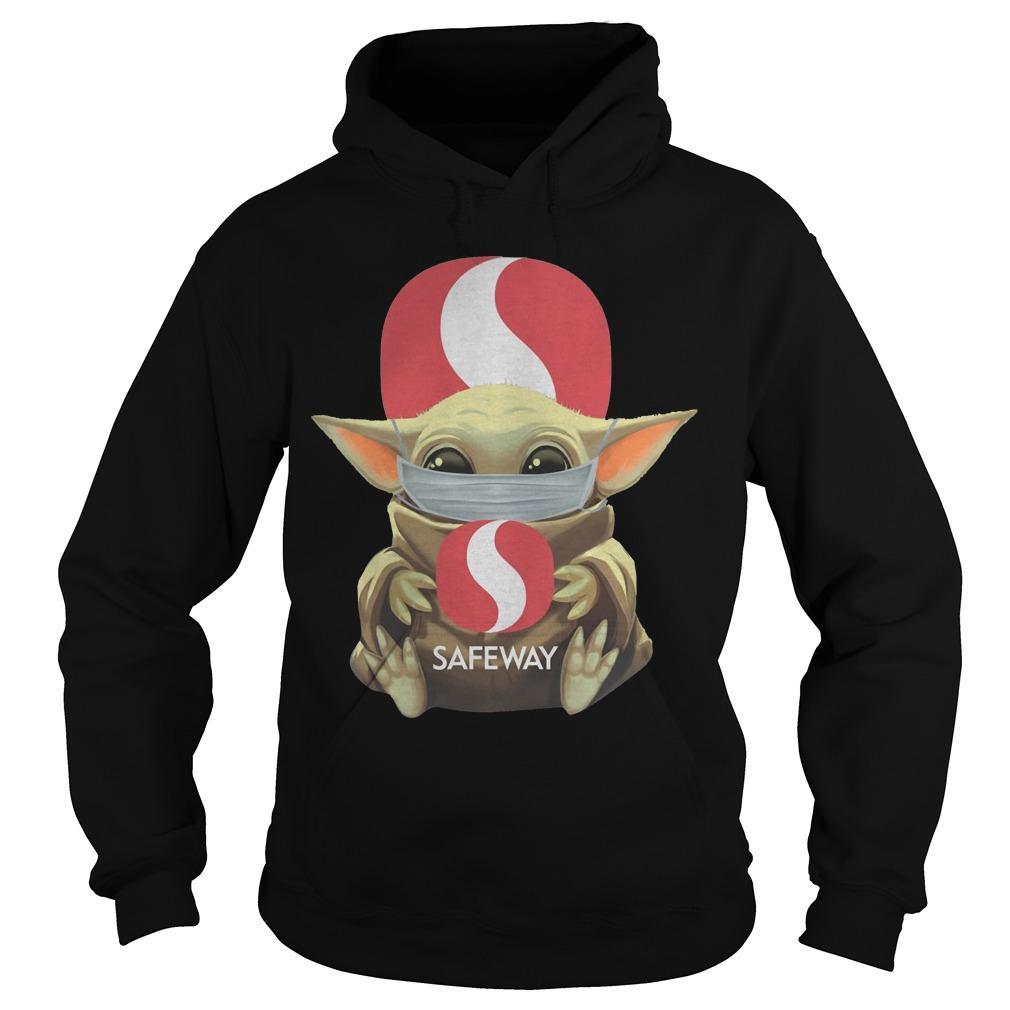 Mask Baby Yoda Hugging Safeway Hoodie