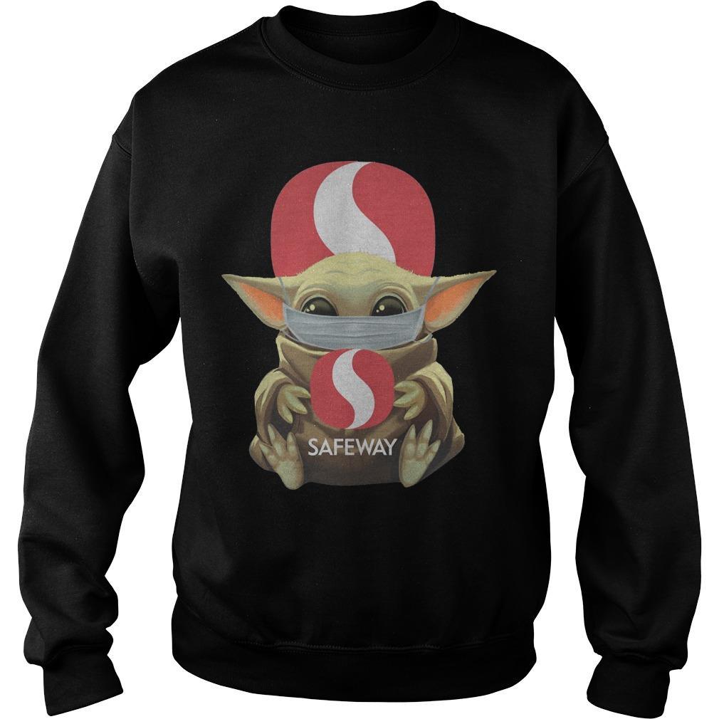 Mask Baby Yoda Hugging Safeway Sweater