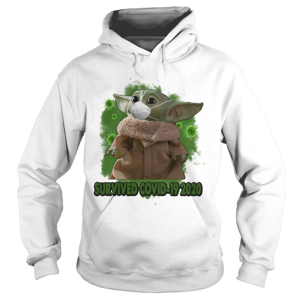 Mask Baby Yoda Survived Covid 19 2020 Hoodie