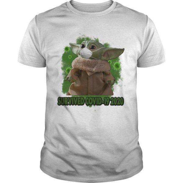 Mask Baby Yoda Survived Covid 19 2020 Shirt