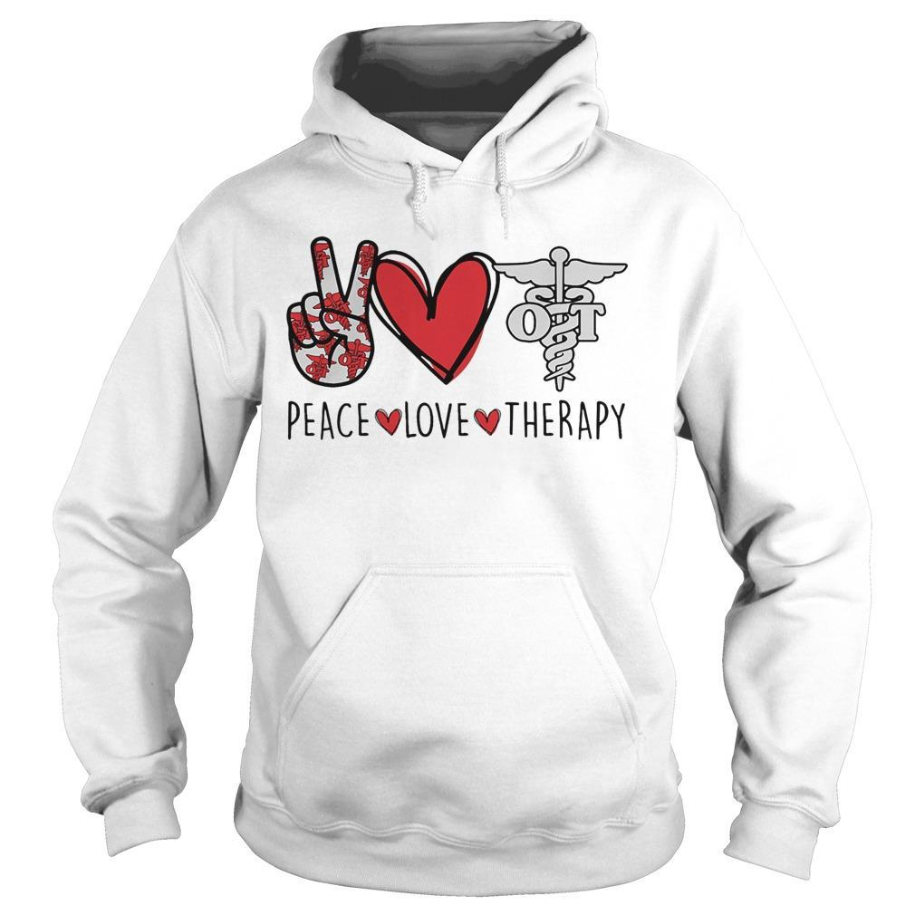 Peace Love Therapy Hoodie
