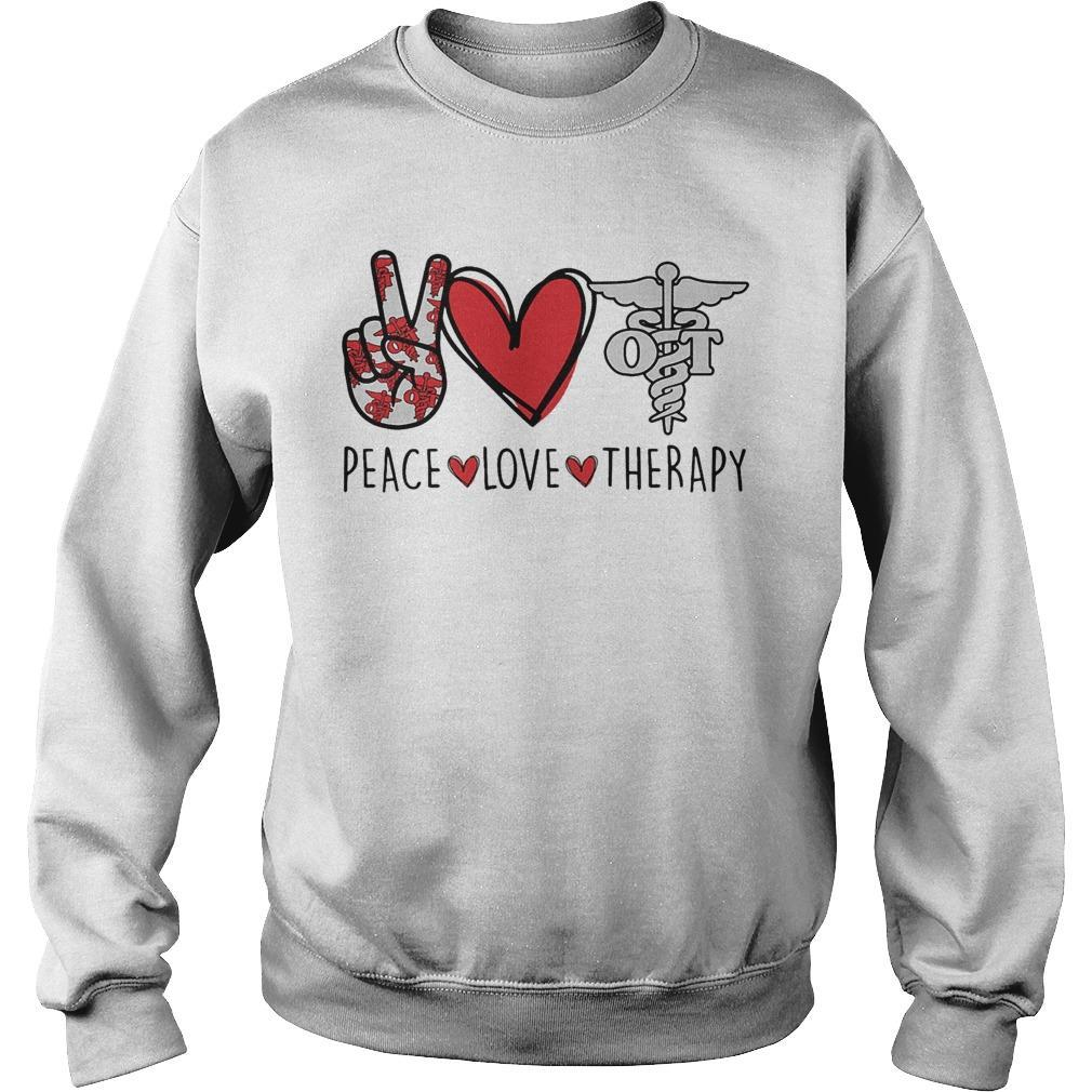 Peace Love Therapy Sweater