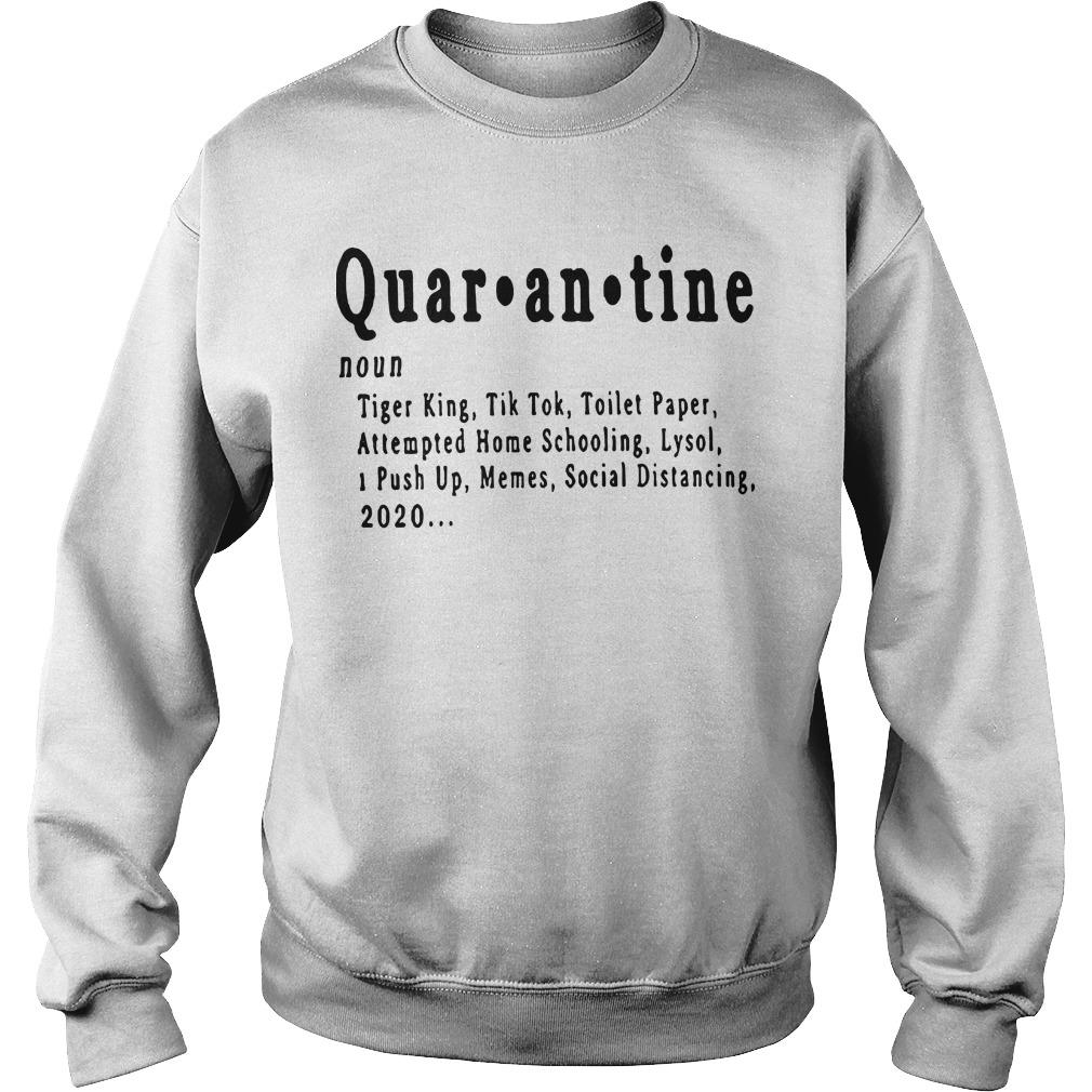 Quarantine Tiger King Tik Tok Toilet Paper Attempted Home Schooling Sweater