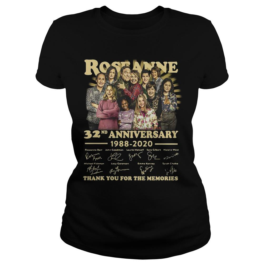Roseanne 32nd Anniversary 1988 2020 Thank You For The Memories Signature Longsleeve