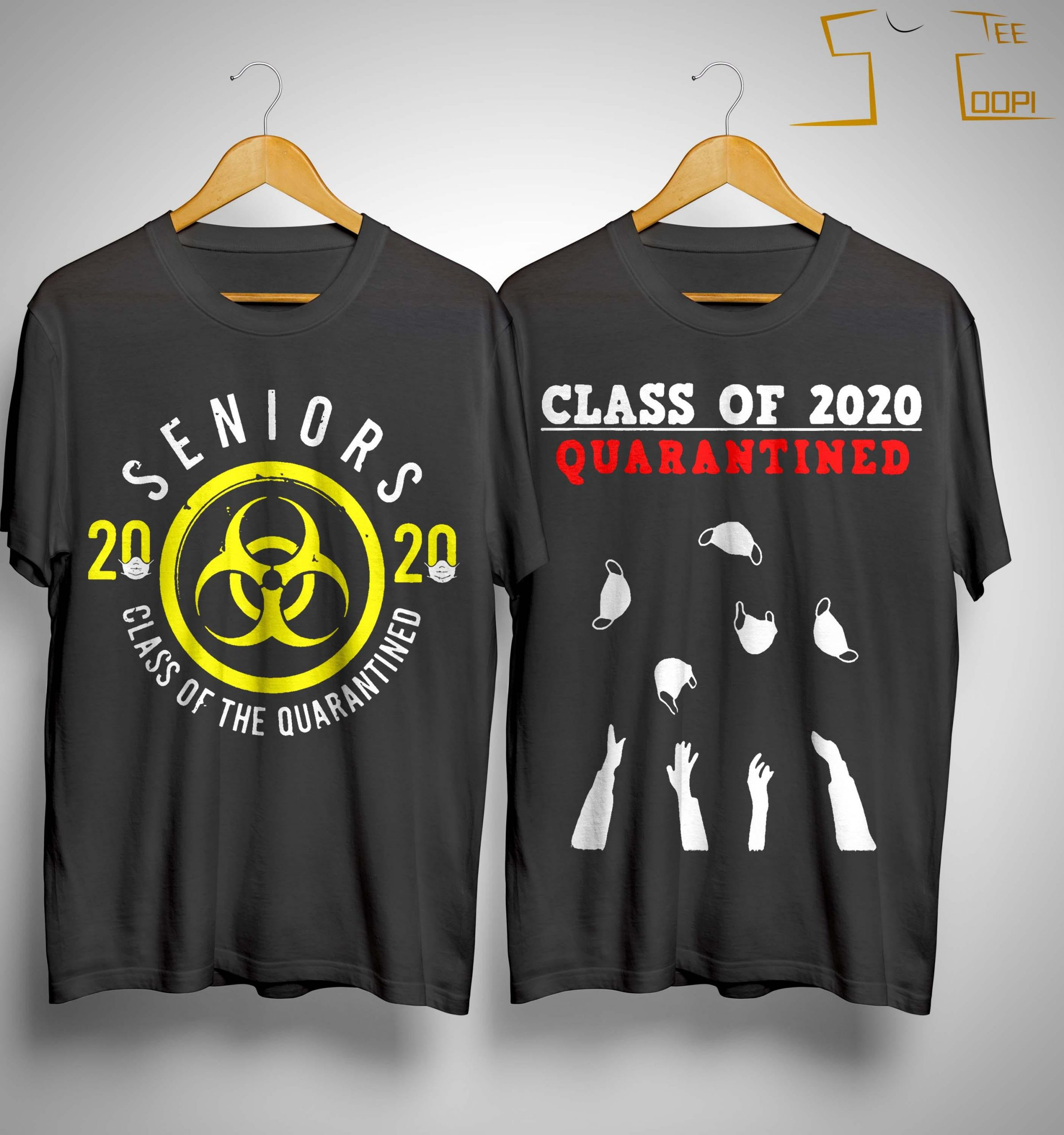 Superluxe Clothing Seniors 2020 The One Where They were Quarantined Funny Friends COVID-19 T-Shirt