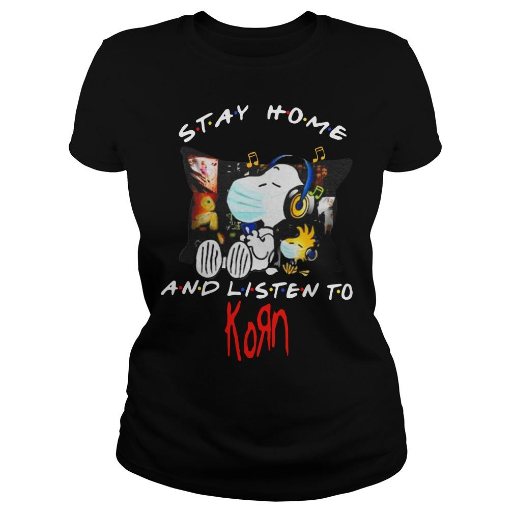 Snoopy And Woodstock Stay Home And Listen To Korn Longsleeve