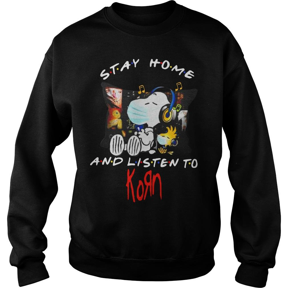 Snoopy And Woodstock Stay Home And Listen To Korn Sweater