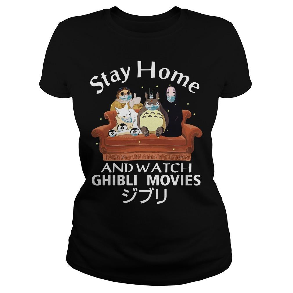 Stay Home And Watch Ghibli Movies Longsleeve