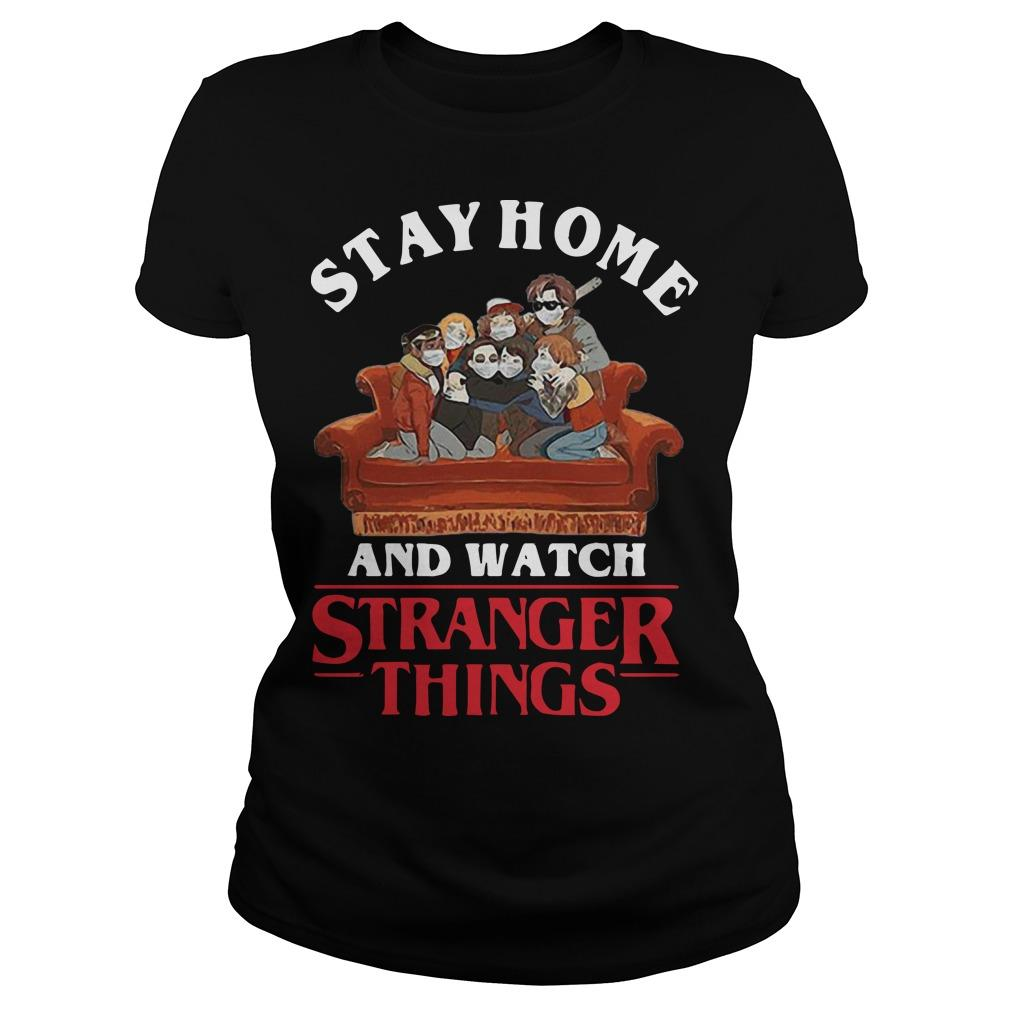 Stay Home And Watch Stranger Things Longsleeve
