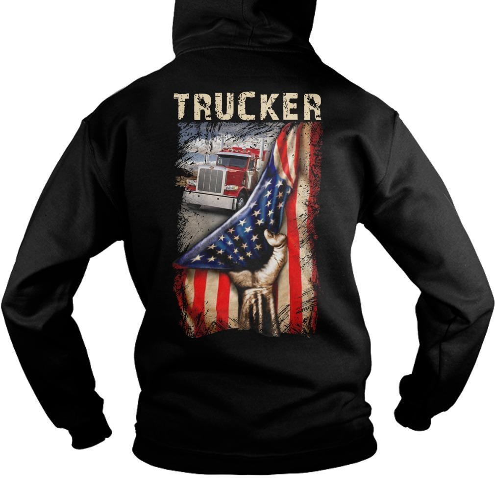 Trucker American Flag Hoodie