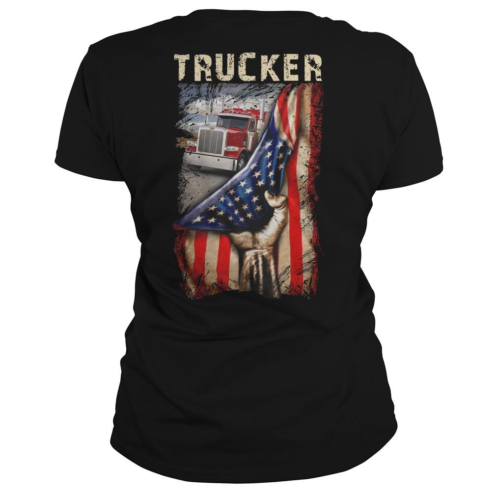 Trucker American Flag Longsleeve