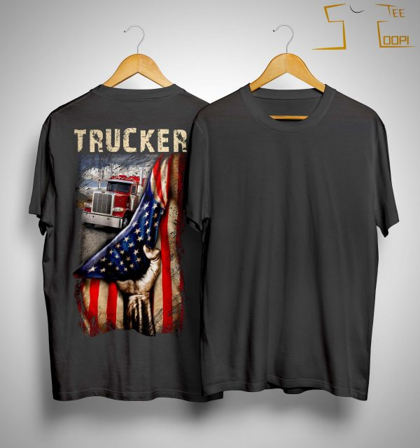 Trucker American Flag Shirt