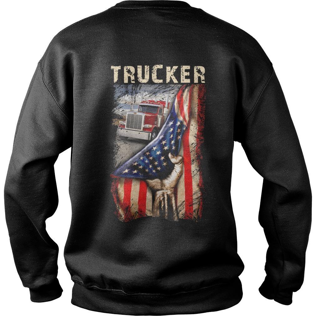 Trucker American Flag Sweater