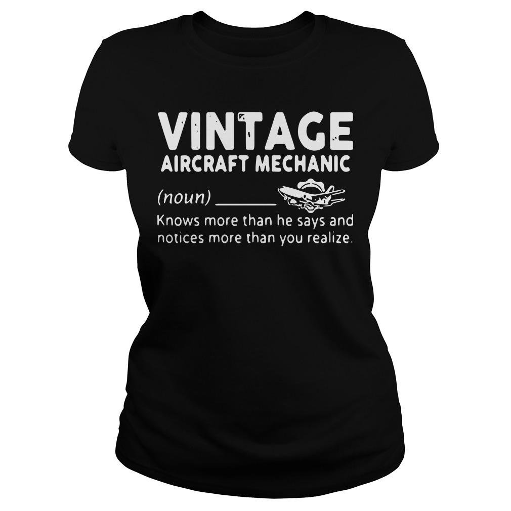 Vintage Aircraft Mechanic Knows More Than He Says And Notices Longsleeve