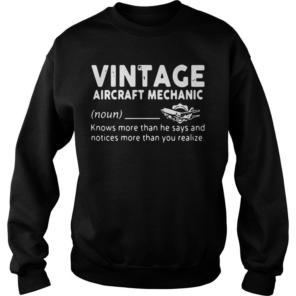 Vintage Aircraft Mechanic Knows More Than He Says And Notices Sweater