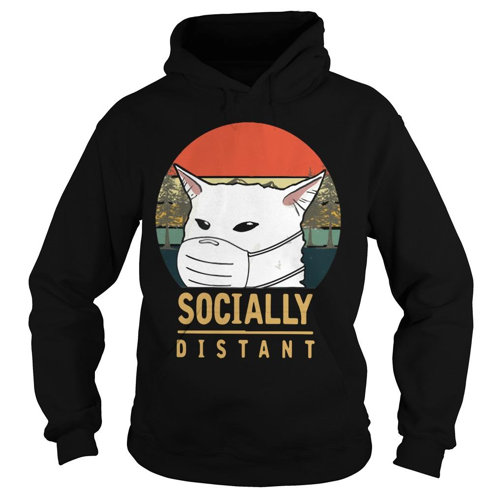 Vintage Cat Meme Socially Distant Hoodie