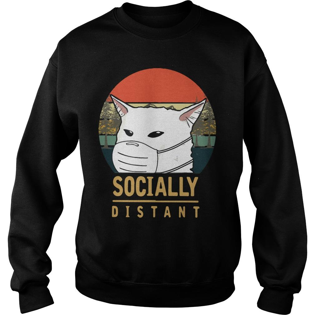 Vintage Cat Meme Socially Distant Sweater