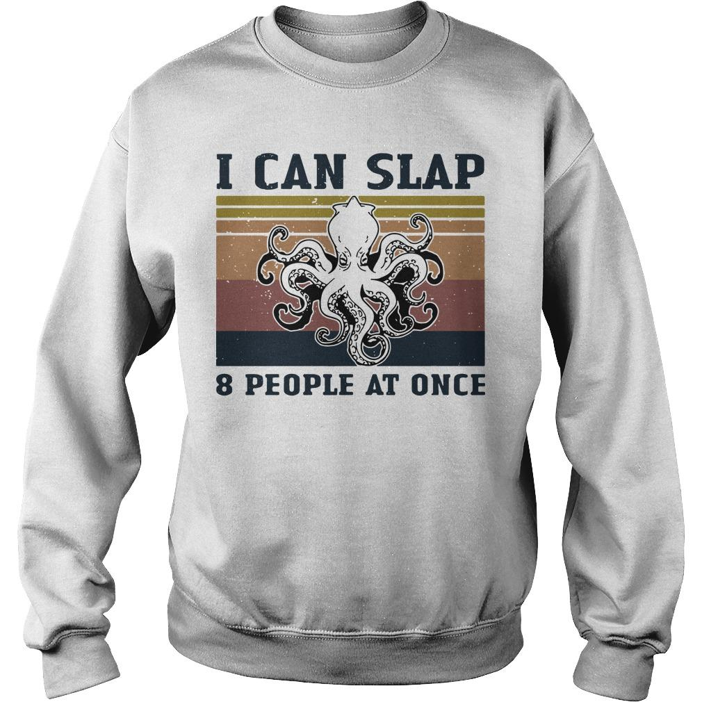 Vintage Octopus I Can Slap 8 People At Once Sweater